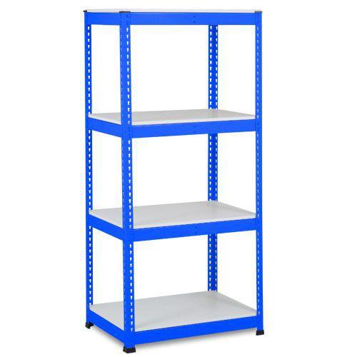 Rapid 1 Heavy Duty Shelving (1980h x 915w) Blue - 4 Melamine Shelves