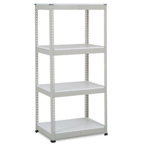 Rapid 1 Heavy Duty Shelving (1980h x 915w) Grey - 4 Melamine Shelves