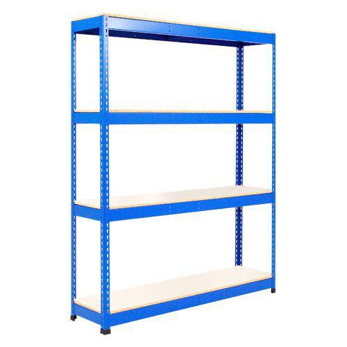 Rapid 1 Heavy Duty Shelving (1980h x 1220w) Blue - 4 Melamine Shelves