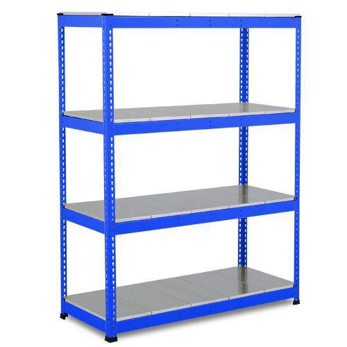 Rapid 1 Heavy Duty Shelving (1980h x 1525w) Blue - 4 Galvanized Shelves