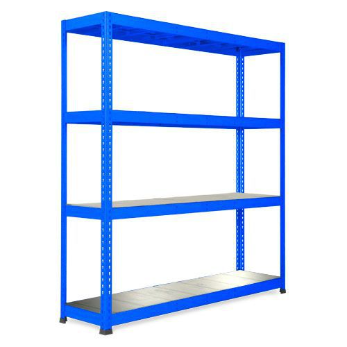 Rapid 1 Heavy Duty Shelving (1980h x 1830w) Blue - 4 Galvanized Shelves