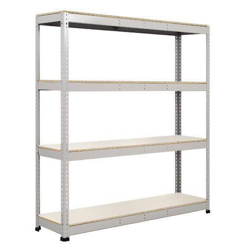 Rapid 1 Heavy Duty Shelving (1980h x 1830w) Grey - 4 Melamine Shelves