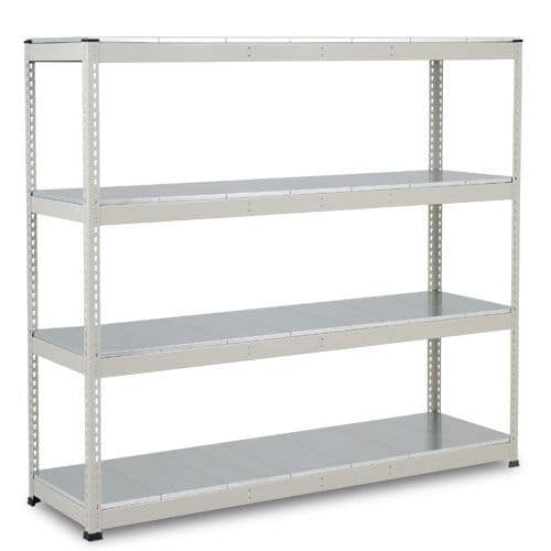 Rapid 1 Heavy Duty Shelving (1980h x 2134w) Grey - 4 Galvanized Shelves