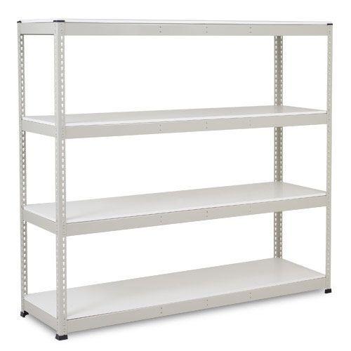 Rapid 1 Heavy Duty Shelving (1980h x 2134w) Grey - 4 Melamine Shelves