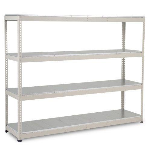 Rapid 1 Heavy Duty Shelving (1980h x 2440w) Grey - 4 Galvanized Shelves