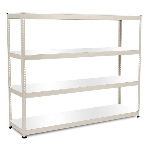 Rapid 1 Heavy Duty Shelving (1980h x 2440w) Grey - 4 Melamine Shelves