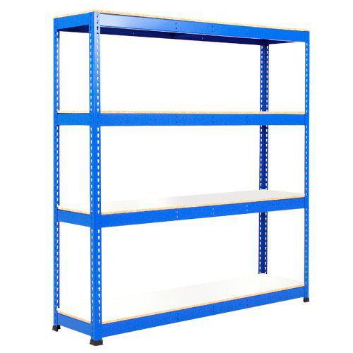 Rapid 1 Heavy Duty Shelving (2440h x 1525w) Blue - 4 Melamine Shelves