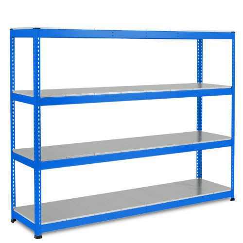 Rapid 1 Heavy Duty Shelving (2440h x 2440w) Blue - 4 Galvanized Shelves