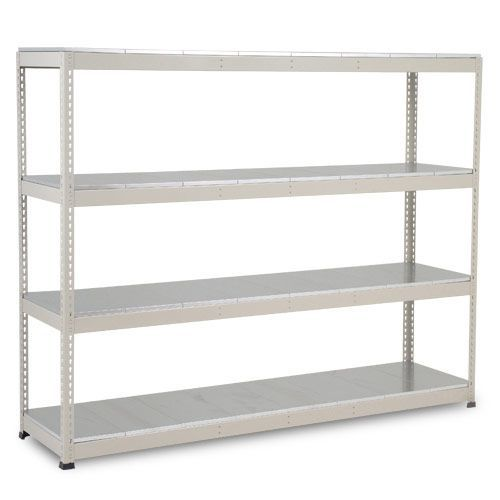 Rapid 1 Heavy Duty Shelving (2440h x 2440w) Grey - 4 Galvanized Shelves