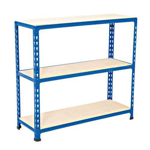 Rapid 2 Shelving (915h x 915w) Blue - 3 Melamine Shelves