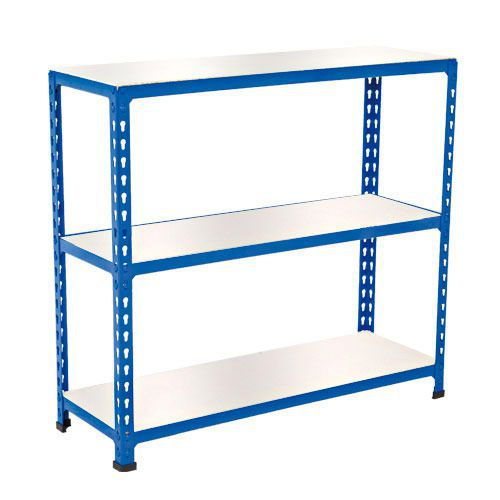 Rapid 2 Shelving (990h x 915w) Blue - 3 Melamine Shelves