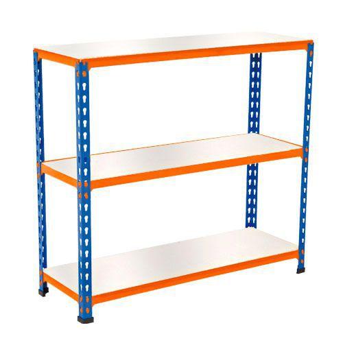 Rapid 2 Shelving (990h x 915w) Blue & Orange - 3 Melamine Shelves