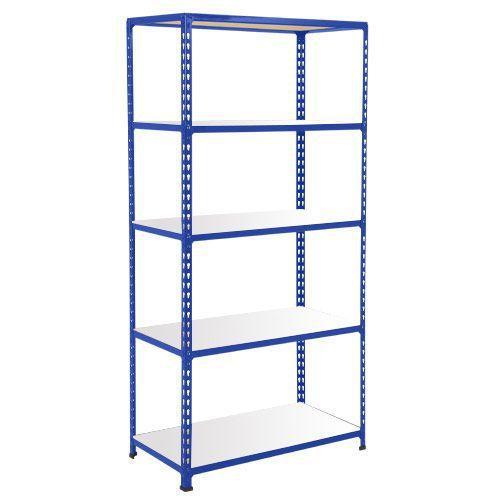 Rapid 2 Shelving (1600h x 915w) Blue - 5 Melamine Shelves
