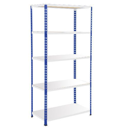 Rapid 2 Shelving (1600h x 915w) Blue & Grey - 5 Melamine Shelves