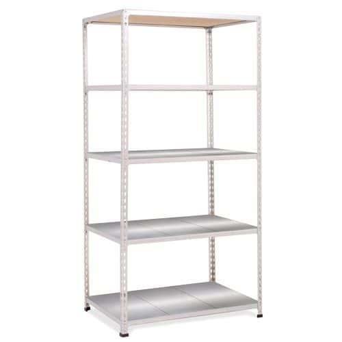 Rapid 2 Shelving (1600h x 915w) Grey - 5 Galvanized Shelves