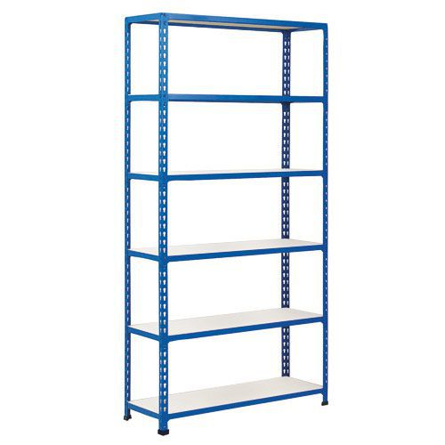 Rapid 2 Shelving (1600h x 915w) Blue - 6 Melamine Shelves