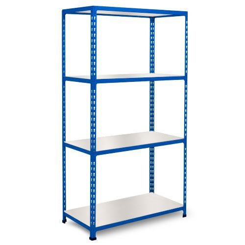 Rapid 2 Shelving (1600h x 915w) Blue - 4 Melamine Shelves