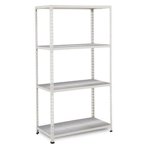 Rapid 2 Shelving (1600h x 915w) Grey - 4 Galvanized Shelves