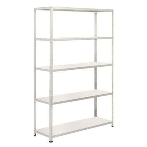 Rapid 2 Shelving (1600h x 1220w) Grey - 5 Melamine Shelves