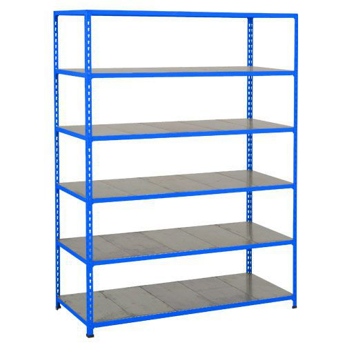 Rapid 2 Shelving (1600h x 1220w) Blue - 6 Galvanized Shelves