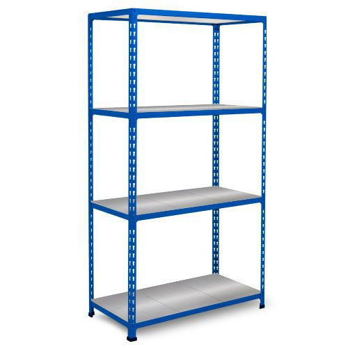 Rapid 2 Shelving (1600h x 1220w) Blue - 4 Galvanized Shelves