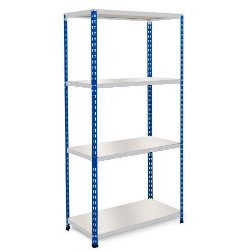 Rapid 2 Shelving (1600h x 1220w) Blue & Grey - 4 Melamine Shelves