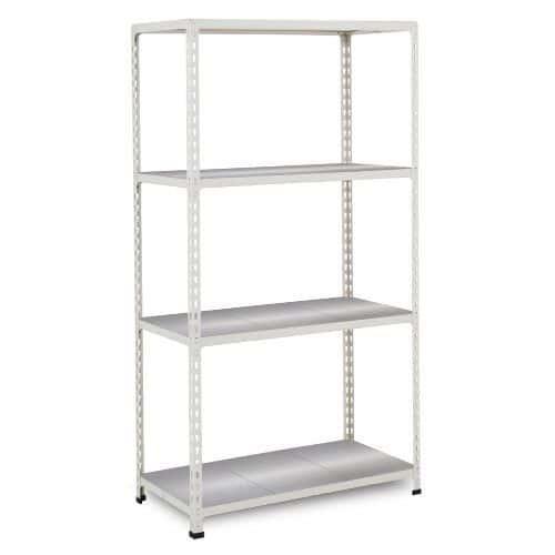 Rapid 2 Shelving (1600h x 1220w) Grey - 4 Galvanized Shelves
