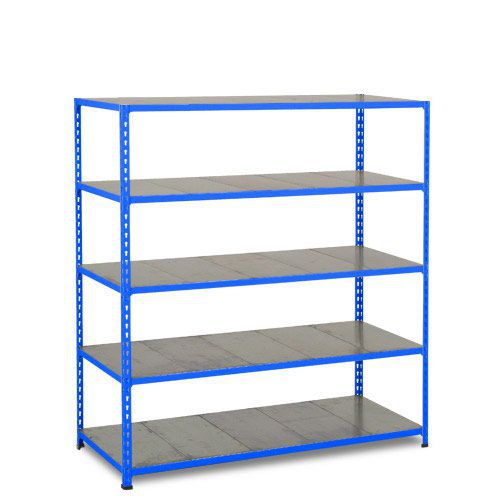Rapid 2 Shelving (1600h x 1525w) Blue - 5 Galvanized Shelves