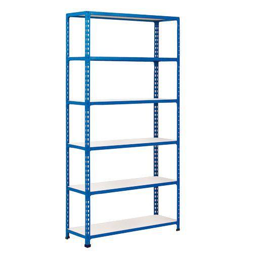 Rapid 2 Shelving (1600h x 1525w) Blue - 6 Melamine Shelves