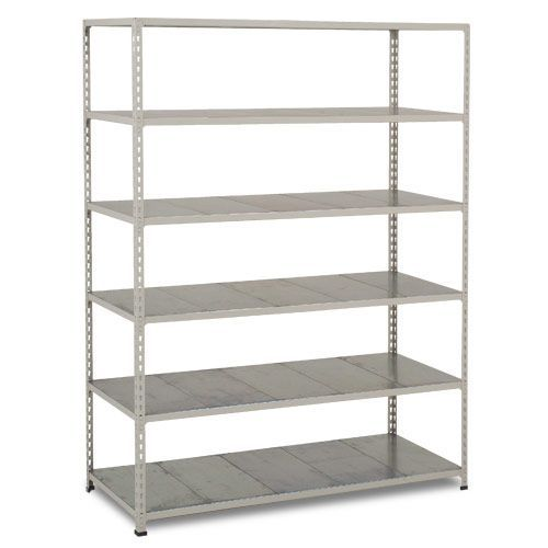 Rapid 2 Shelving (1600h x 1525w) Grey - 6 Galvanized Shelves