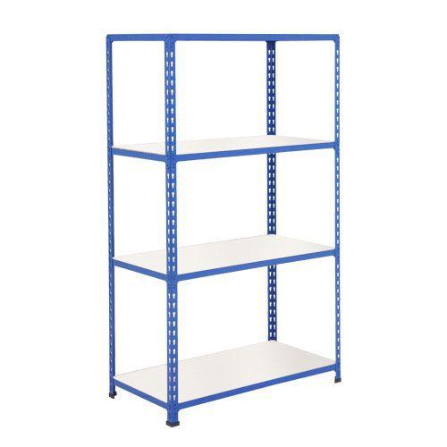 Rapid 2 Shelving (1980h x 915w) Blue - 4 Melamine Shelves