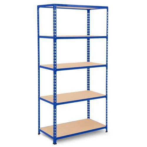 Rapid 2 Shelving (1980h x 915w) Blue - 5 Chipboard Shelves