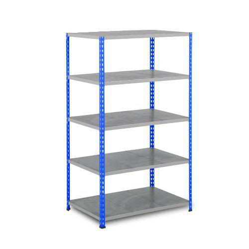 Rapid 2 Shelving (1980h x 915w) Blue & Grey - 5 Galvanized Shelves