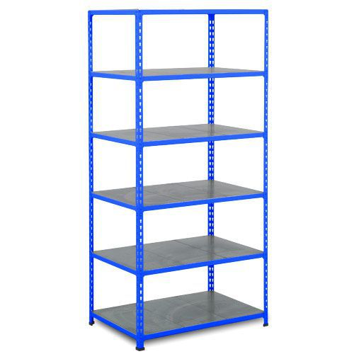 Rapid 2 Shelving (1980h x 915w) Blue - 6 Galvanized Shelves