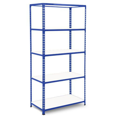 Rapid 2 Shelving (1980h x 915w) Blue - 5 Melamine Shelves