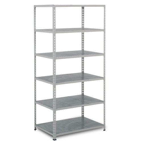 Rapid 2 Shelving (1980h x 915w) Grey - 6 Galvanized Shelves