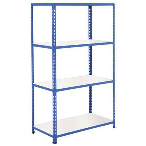 Rapid 2 Shelving (1980h x 1220w) Blue - 4 Melamine Shelves