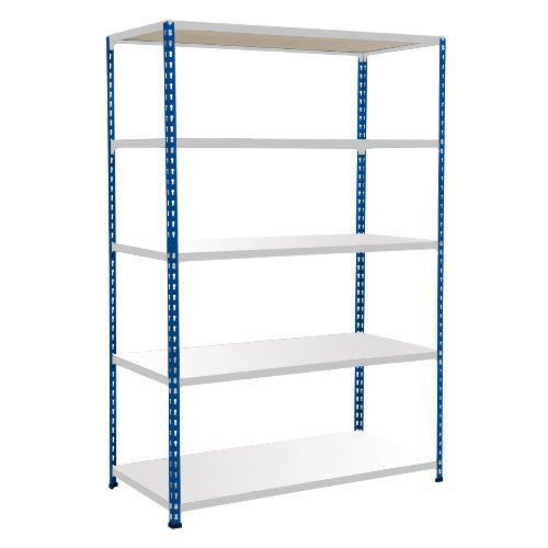 Rapid 2 Shelving (1980h x 1220w) Blue & Grey - 5 Melamine Shelves