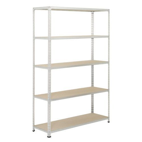 Rapid 2 Shelving (1980h x 1220w) Grey - 5 Chipboard Shelves