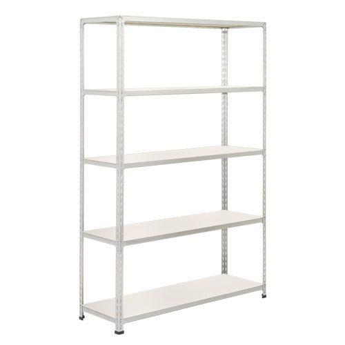 Rapid 2 Shelving (1980h x 1220w) Grey - 5 Melamine Shelves