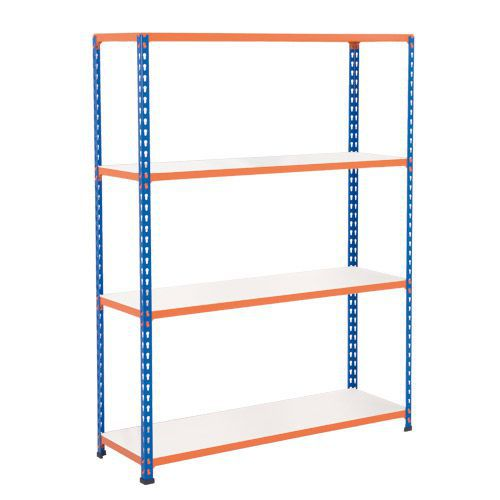 Rapid 2 Shelving (1980h x 1220w) Blue & Orange - 4 Melamine Shelves