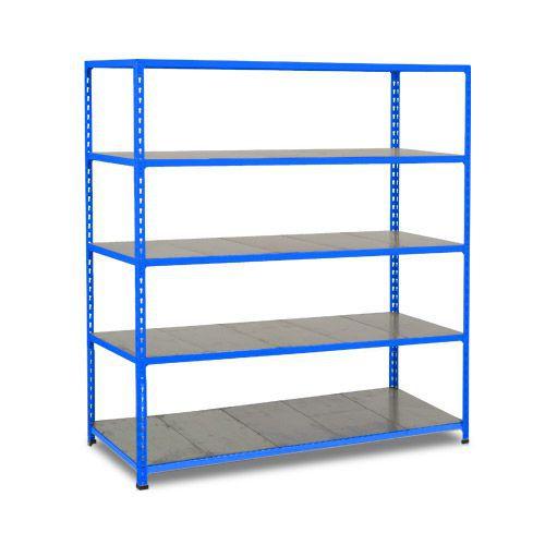 Rapid 2 Shelving (1980h x 1220w) Blue - 5 Galvanized Shelves