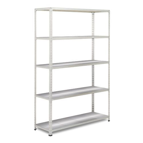 Rapid 2 Shelving (1980h x 1525w) Grey - 5 Galvanized Shelves