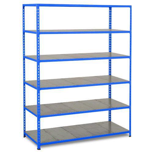 Rapid 2 Shelving (1980h x 1220w) Blue - 6 Galvanized Shelves
