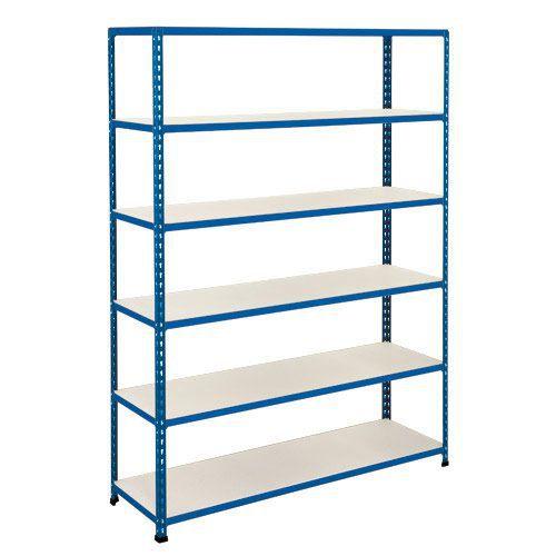 Rapid 2 Shelving (1980h x 1525w) Blue - 6 Melamine Shelves