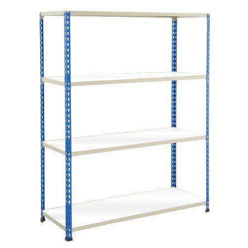 Rapid 2 Shelving (1980h x 1525w) Blue & Grey - 4 Melamine Shelves