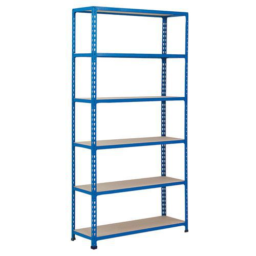 Rapid 2 Shelving (2440h x 915w) Blue - 6 Chipboard Shelves
