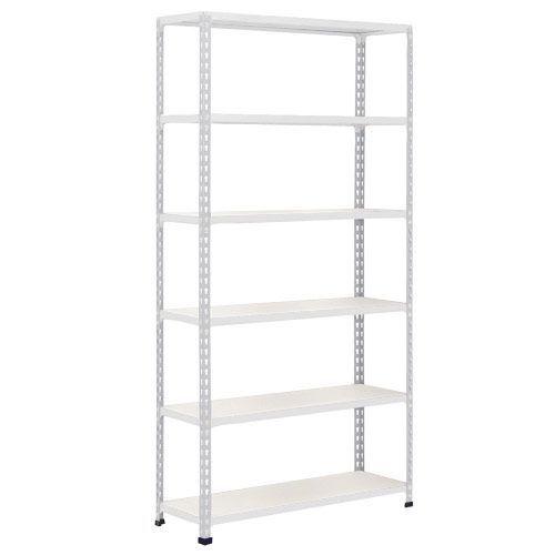 Rapid 2 Shelving (2440h x 1220w) Grey - 6 Melamine Shelves