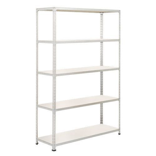 Rapid 2 Shelving (1980h x 1220w) Galvanized - 5 Melamine Shelves