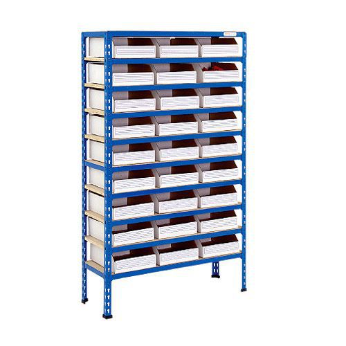 Rapid 2 Shelving (1600h x 915w) 27 Cardboard Picking Bins